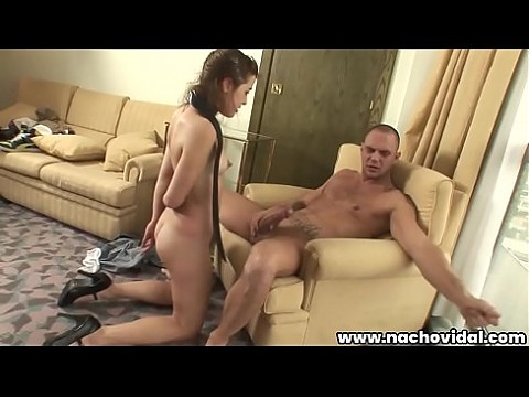 The young girl submits of Nacho, who masturbates her and gives him a taste of his big cock