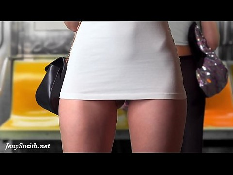 Upskirt Flashing in Subway — virtual reality with Jeny Smith