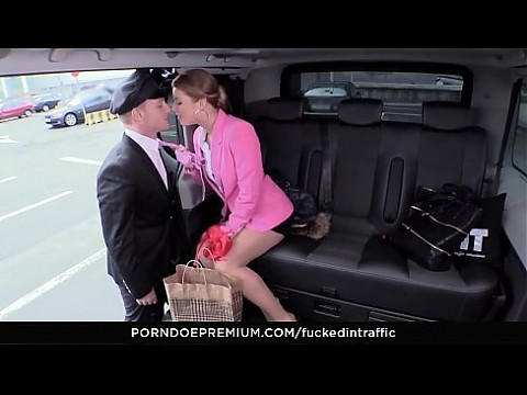 VIP SEX VAULT - Hot Czech redhead Chrissy Fox takes cock in the backseat of the car