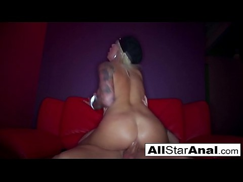 Sexy stripper Vyxen gets fucked in her tight ass