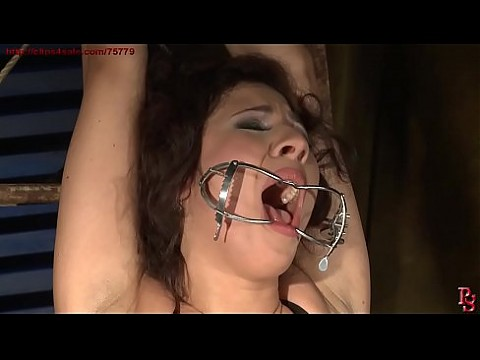 Super sexy Patricia's holes are stuffed hard.BDSM movie.Hardcore bondage sex.