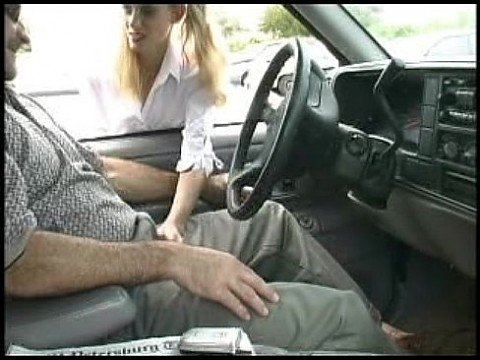 YM Mindy schoolgirl lipstick car door blowjob