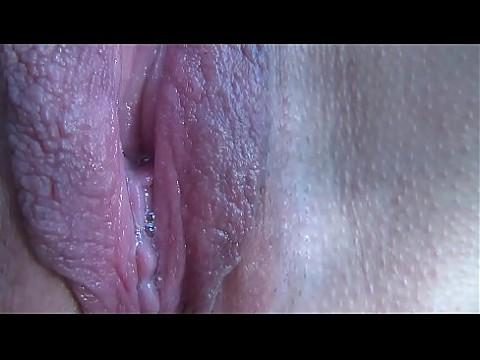 Close up pussy during orgasm of mature wife