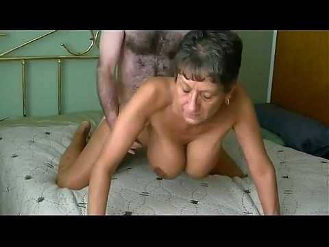 Amazing busty granny gets fucked and creampied infront of cam. More at 747cams.com