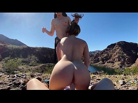 Amateur Threesome Outdoors - Horny Hiking ft. Anna Bailey & Molly Pills - Outdoor Public Fucking POV